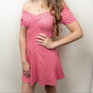 Cotton On Dress Pink White Floral Size XS